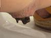 うんこ中に盛り上がる女の肛門を接写?!トイレで澄ました顔をしつつ踏ん張ってます♪