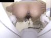 「うわ、出てきた出てきたっ!」自分の肛門をモニタリングしつつ脱糞(自撮り動画)